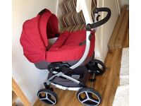 Red chicco puschair and pram