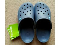 Crocs Crocband, Brand New- Unisex-Adults Clogs, Black (Charcoal/Ocean), M6/W7 UK