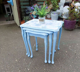 Painted Shabby Chic Nest Tables