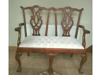 Immaculate Mahogany double chair
