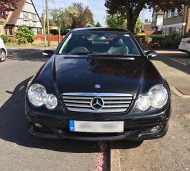 Mercedes-Benz C CLASS C180 Kompressor 2Dr Coupe 1.8 SE Auto Black leather seats