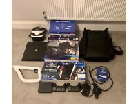As new used once PS4 pro plus VR headset.