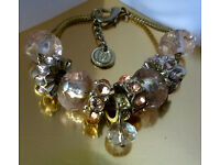 crystal and gemstone charm bracelet