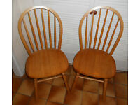 2 Hardwood Kitchen or Dining Chairs