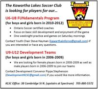 Looking for New Players U6-U12 Boys & Girls