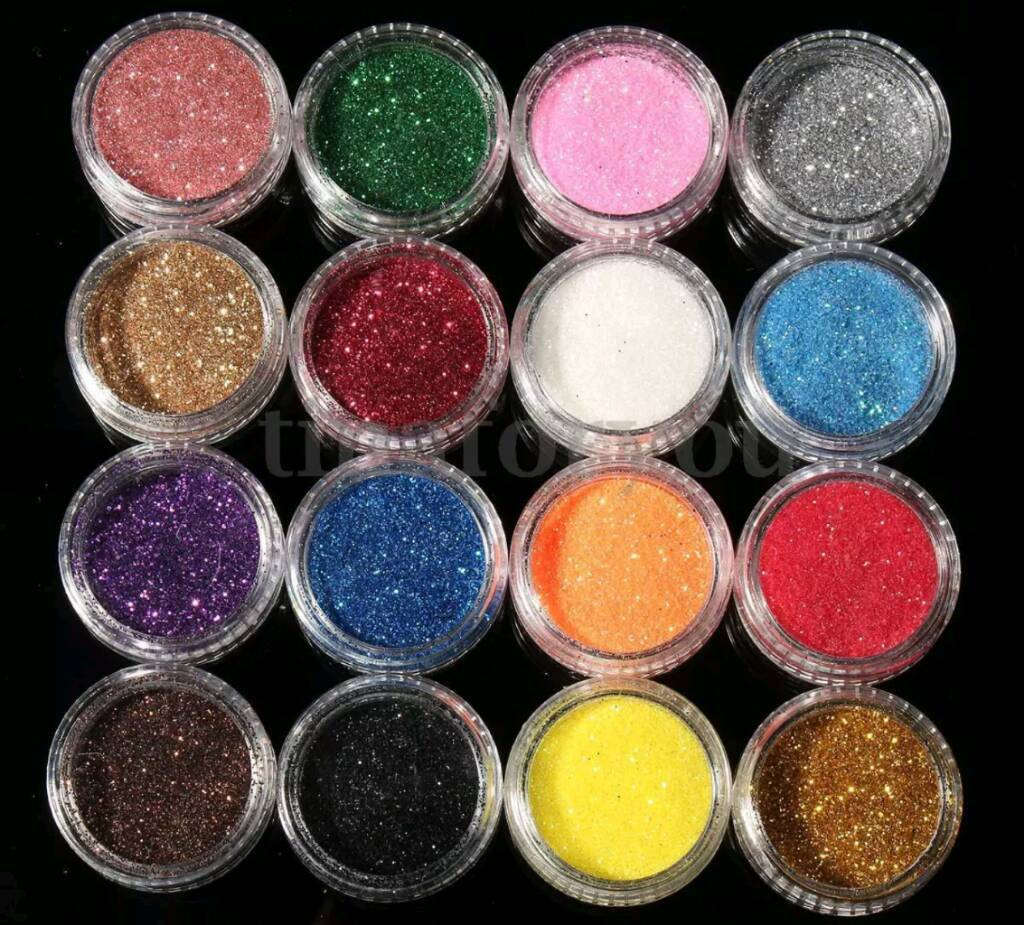 16 Glitter Eyeshadow Pigments