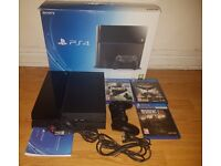 Sony Playstation 4 (PS4) 500GB Boxed with 3 Games and 1 Controller