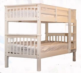Solid wooden bunk bed