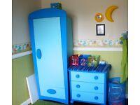 Ikea Mamut blue bedroom furniture
