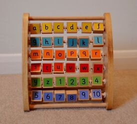ELC Wooden Alphabet Teaching Frame / Abacus