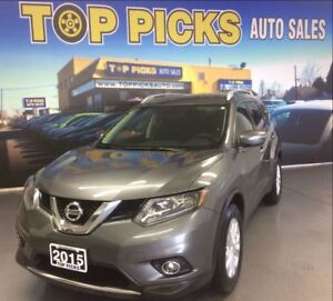 2015 Nissan Rogue SV, AWD, TWIN SUNROOF, BACK UP CAM, AND MORE!