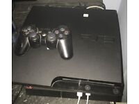PS3 Slim 300gb + 10 games + controller + all wires