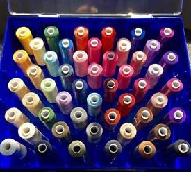 50 Multicoloured Cotton Thread Reels