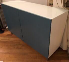 Stylish Ikea Storage Shelves / Entertainment cabinet combination with Doors