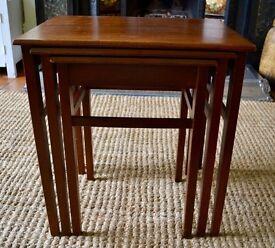 Nest of 3 teak tables retro/vintage Herbert Gibbs mid century/1960s very good condition