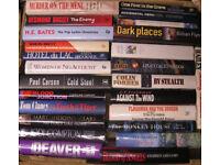 Hardback books, mainly fiction £1 each