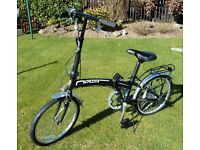 "BRAND NEW - FOLDING BICYCLE WITH BAG -20"" WHEELS, 6 SPEED"