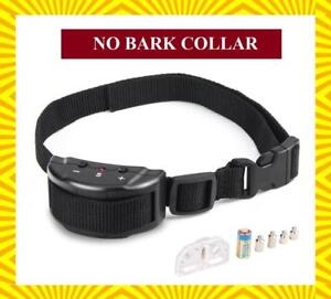No Bark Collar & Anti Bark Shock Collar & Pet Bark Control with 7 Levels - Ship Across Canada