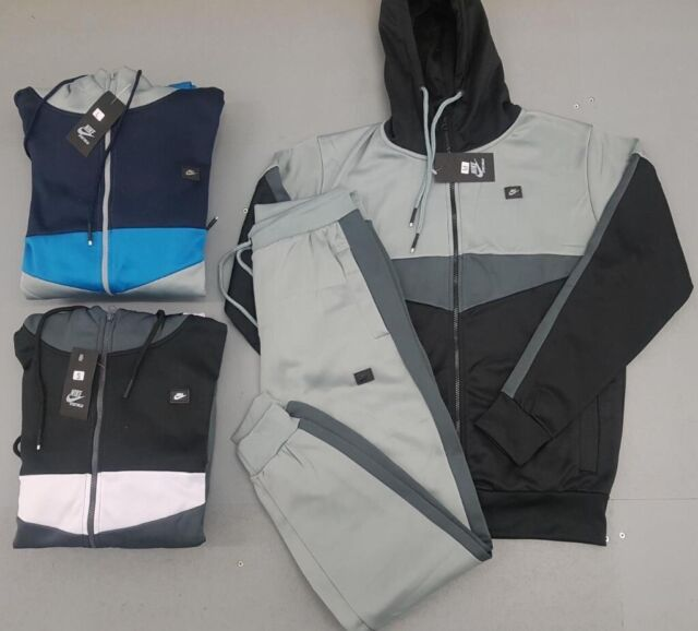 Nike Mens Tech Fleece Full Tracksuit Hoodie Joggers Black Grey Blue Air Max Medium Large Adidas In Enfield London Gumtree