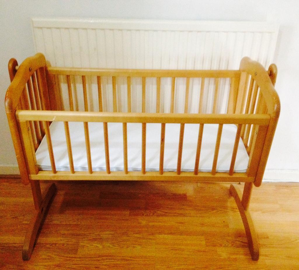 Mothercare swinging baby Cot