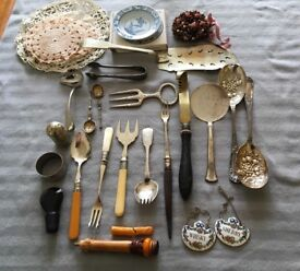 Misc. collection of vintage cutlery etc