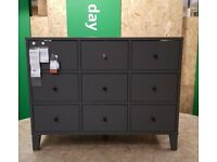 IKEA BRYGGJA Chest of 9 drawers, dark grey, 118x92 cm, IKEA Milton Keynes #bargaincorner