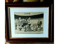 Newcastle United Humorous Framed Cutting