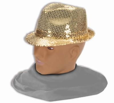 Erwachsene Gold Pailletten Fedora Hut All That Jazz Kostüm Zubehör (All That Jazz Erwachsene Kostüme)