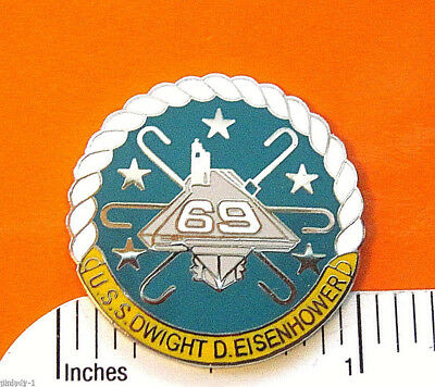 USS  DWIGHT D. EISENHOWER 69 - hat pin , lapel pin , tie tac GIFT BOXED 62451