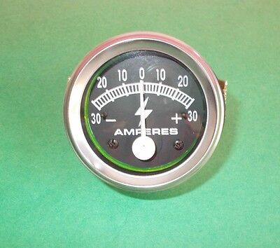Ammeter 2 30-0-30 Ampere Meter For Trucks Tractors Bus Generator 2 Pcs
