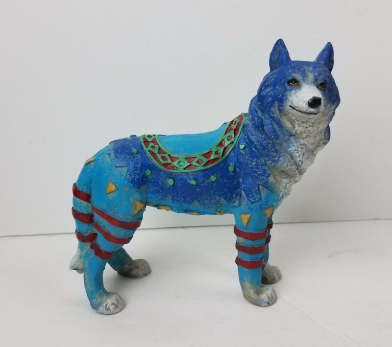 2007 Westland Call of the Wolf Blue Standing Animal Figurine
