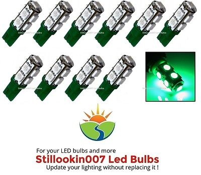 10 - T5 Low Voltage Landscape Light LED conversion 9 Green led's per - Green Low Voltage Landscape Lighting