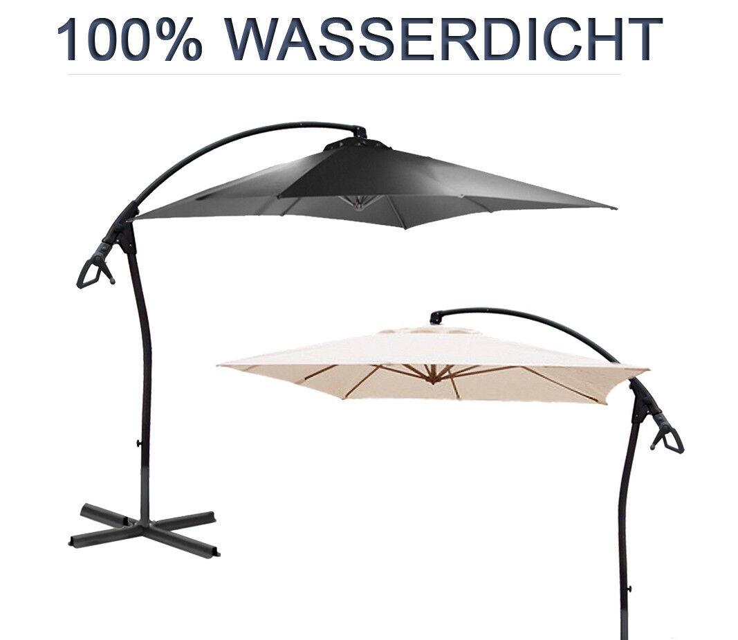 2,5 m Ampelschirm LUXUS WASSERDICHT durch PVC Schirm Sonnenschirm Gartenschirm