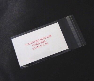 Business Card - Clear Resealable Self Adhesive Seal Business Card Bags 1.2 Mil
