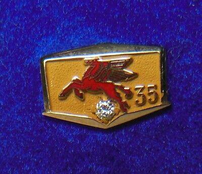 ⛽️Socony-Vacuum ExxonMobil Gas/Oil Co.10K employee service award tie/lapel pin
