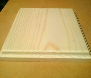 Unfinished Wood Plaques Wooden Square Base Stand 5.5