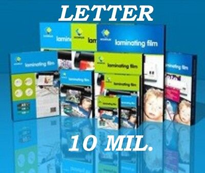 25 Letter 10 Mil Laminating Pouches Laminator Sheets 9 X 11-12 Gbc Quality