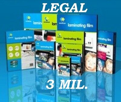 50 Legal 3 Mil Laminating Pouches Laminator Sheets 9 X 14-12 Quality