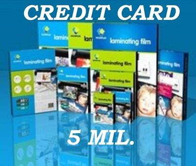 50 Credit Card 5 Mil Laminating Pouches Laminator Sheets 2-18 X 3-38 Quality