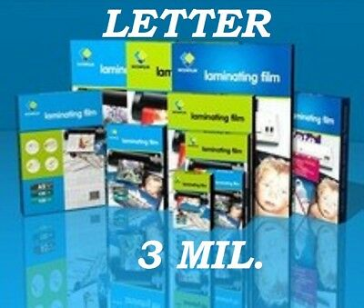 10 Letter Size Laminating Laminator Pouches Sheet 3 Mil 9 X 11-12 Quality