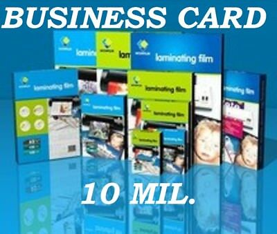 25 Business Card 10 Mil Laminating Pouches Laminator Sheet 2-14 X 3-34 Quality