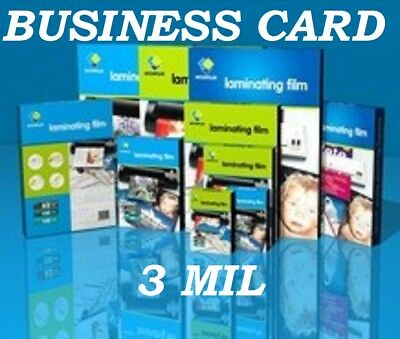25 Business Card 3 Mil Laminating Pouches Laminator Sheets 2-14 X 3-34 Quality
