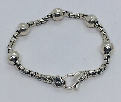 Jai John Hardy Sterling Silver Box Link Ball Station Bracelet