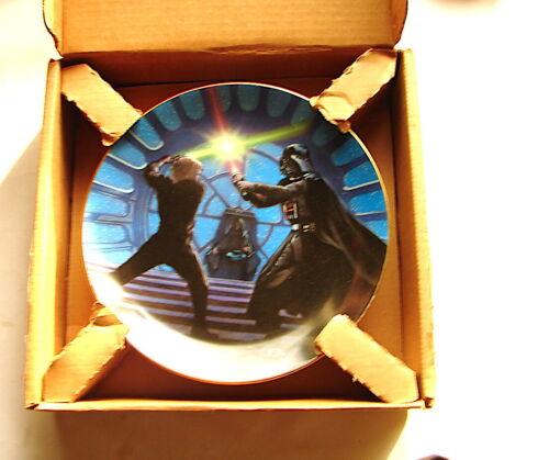 STAR WARS Hamilton Collectors Plate Luke and darth Vader ROTJ  E VI battle 1220