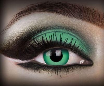 Crazy Contact Lens Lentilles Kontaktlinsen Fun Emerald green - Gothic Kontaktlinsen