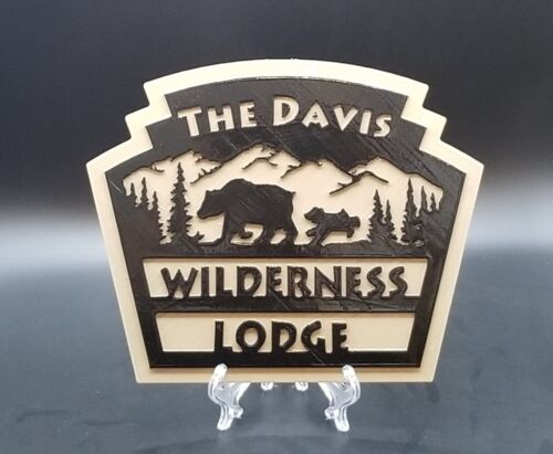 """9"""" Personalized Disney World Fort Wilderness and Wilderness Lodge Inspired Sign"""