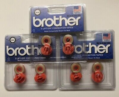 Lot Of 3 Brother 3010 Two Spool Lift-off Correction Tape Brt3010