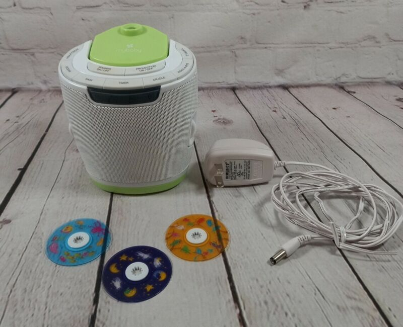 Homedics My Baby Sound & Projector MYB-S300 with 3 Discs & Cord Modern Mobile