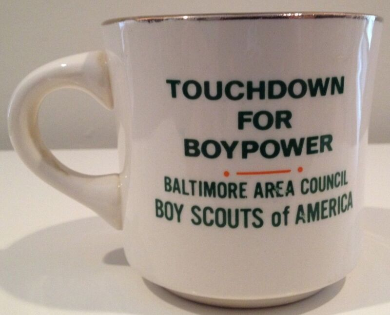 Touchdown for Boypower Baltimore Area Boy Scout Tiger Vintage Ceramic Mug