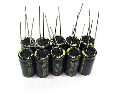 680uf 35v 10pcs Electrolytic Capacitors 35v 680uf Volume 10x20mm